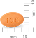 Image of 100 mg pill